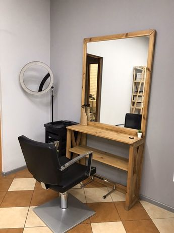 Парикмахерское зеркало, рабочее место бу
