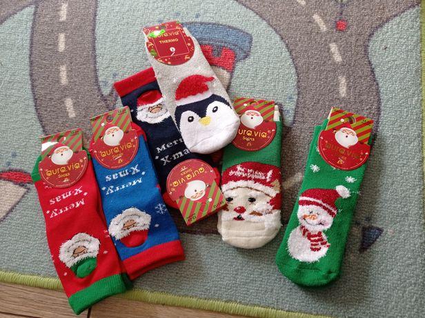 Skarpetki świąteczne 12-24 6 par nowe