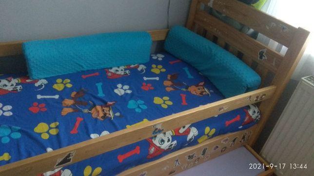 Sprzedam łóżko drewniane podwójne, wysuwane
