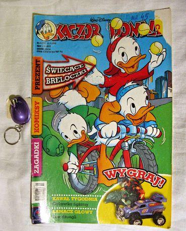 komiksy Kaczor Donald nr.1, 39,45 z 2003r z dodatkami