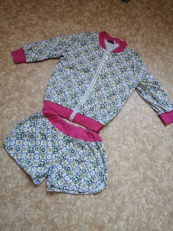 Костюм на девочку подростка бомбер курточка шорты 152 158 164 см