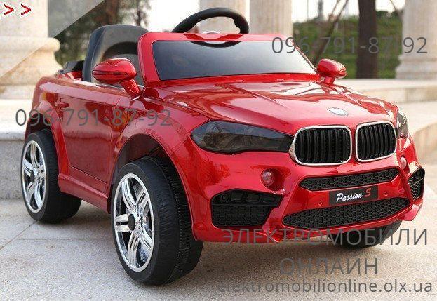 Детский электромобиль Джип BMW X5+РЕЗИНА+КОЖА дитячий електромобіль