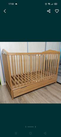 Łóżeczko niemowlęce z materacem ochraniaczem i pościelą 60x120cn