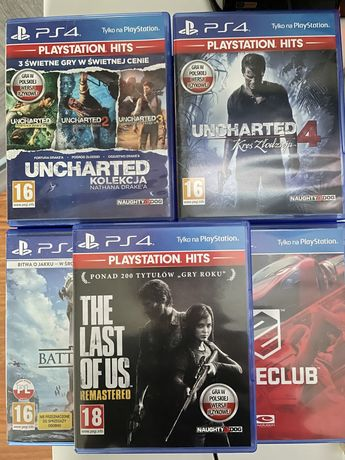 Gry ps4. The last of us, uncharted 4, driveclub, battlefront