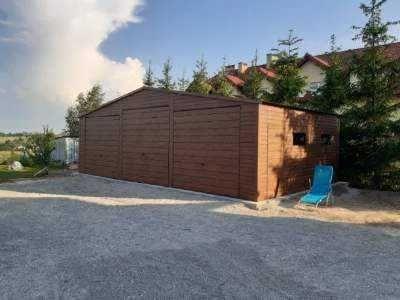 Garaze blaszaki garaz 10x6 orzech