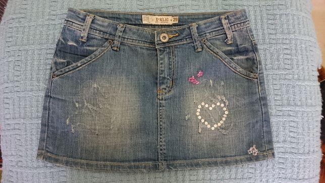 Spódniczki mini jeansowe firmy D KLICK i ORANGES RED stan idealny