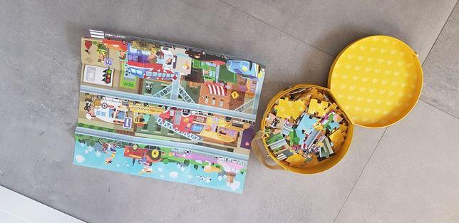 Janod puzzle w walizce Pojazdy 100 elementow IDEAŁ