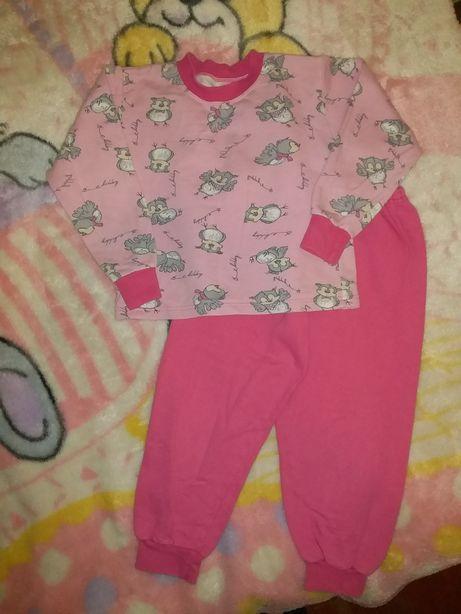 Пижама байковая для девочки до 4,5 лет