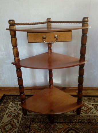 Sekretarzyk-szafka-regał-stolik z półkami i szufladką