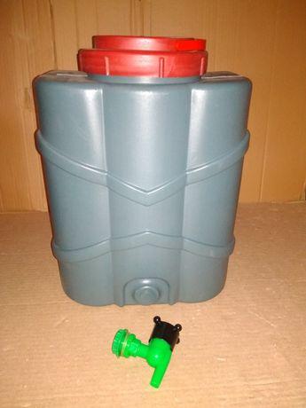 Рукомойник 15 литров с краником и крючками для подвешивания