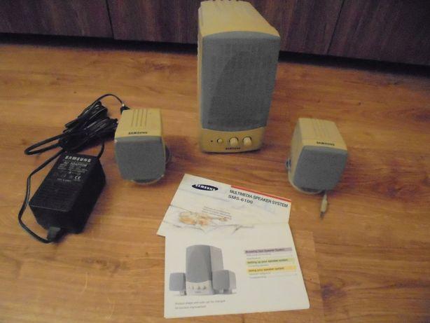 Głośniki Samsung SMS 6100 plus zasilacz KNE 1418