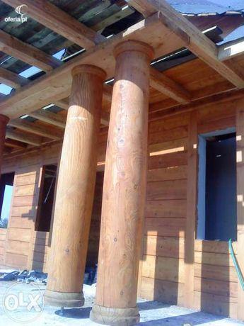 Kolumny drewniane, Bale toczone drewniane, drewno opałowe
