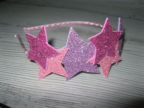 Обруч з зірочками -колір на вибір , ободок звездочки