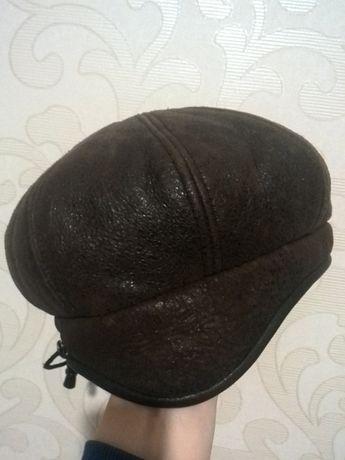 шапка женская зимняя кожаная