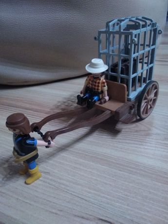 Playmobil, niewolnik ciągnący powóz