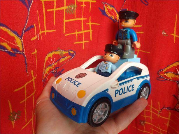Samochód z 2 policjantami, LEGO Duplo+1zl przesylka