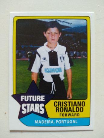 Card do Cristiano Ronaldo com o equipamento do Nacional da Madeira