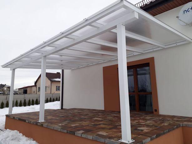 Wiaty garażowe, zadaszenie balkonu tarasu , pergole, ogrody zimowe.