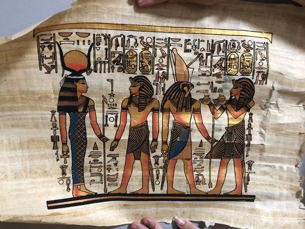Картина папірус з Єгипта Піраміди Фараон Колесниця