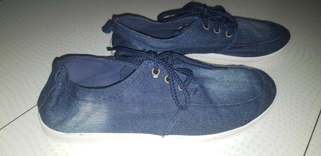 Мужские джинсовые мокасины 45 размер, стелька 29 см