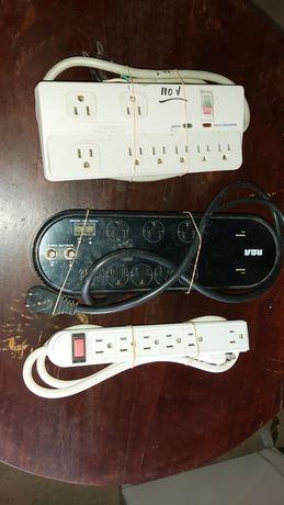 Bloco de tomadas de corrente para aparelhos 110 v americano