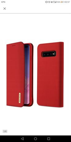 Skórzane etui z klapka DO GALAXY S10 PLUS