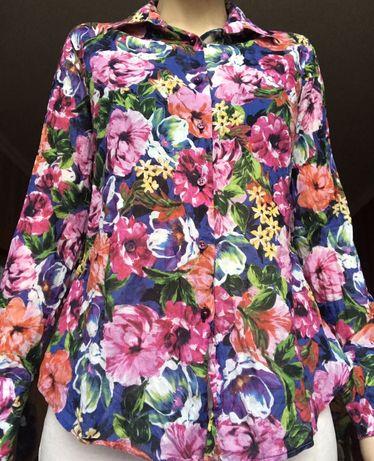 Рубашка з квітковим принтом