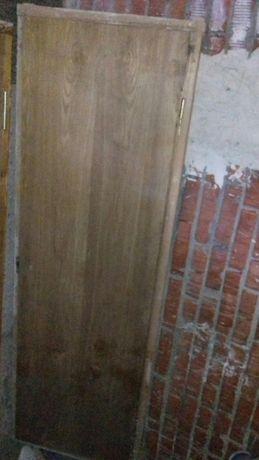 Дверне полотно з коробкою, дубовий шпон