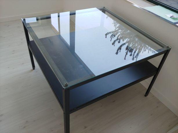 Mesa metálica com vidro temperado EN 12150