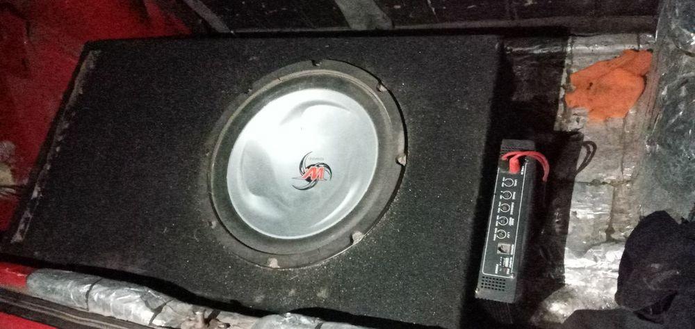 Продам саб с усилком коробом и проводами Куликово - изображение 1