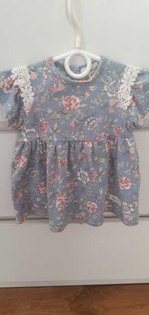 Sukienka dla dziewczynki newbie KappAhl 62-68cm 1-3 mies.