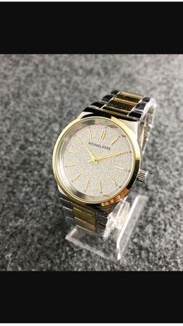 Zegarek srebno-zloty MK