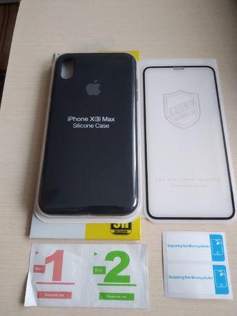 Оригинальный чехол Apple iPhone Xs Max + фирменное защитное стекло 9H