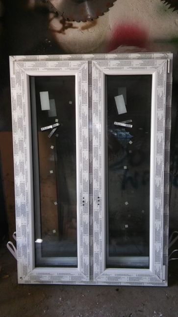 Okno PCV 100x150 RU+R orzech-białe