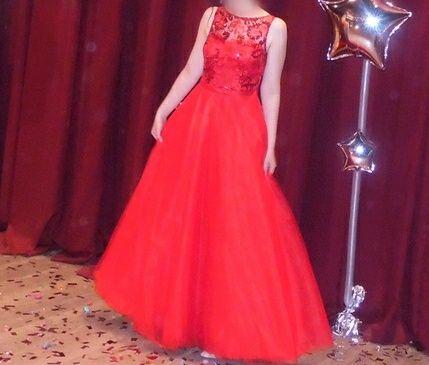 Красное выпускное платье. Випускна сукня. Нарядное платье