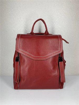 Рюкзак женский кожаный цвет красный винный новинка 2020. Цвета.