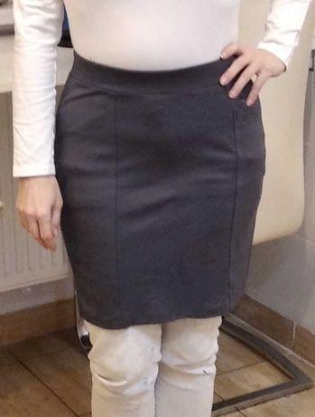 Stalowa spódnica mini H&M rozm S