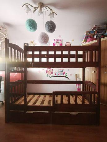 Drewniane łóżko piętrowe dziecięce - solidne