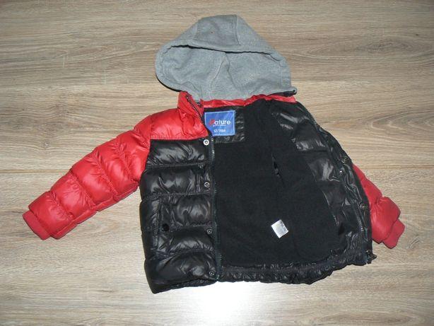 Chłopięca kurtka kurteczka pikowana ,jesienno-zimowa,80-86 ,1-1,5 roku