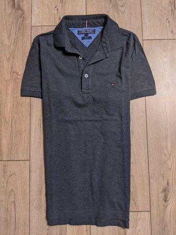TOMMY HIFIGER Slim Fit Polo Szara Gray ideal idealny logowana logo S M