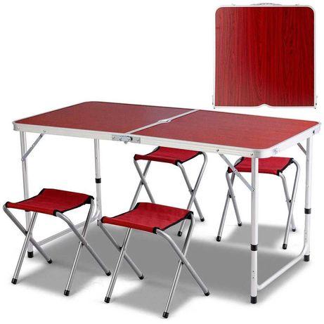 Стіл складний для пікніка + 4 стула Стол для пикника