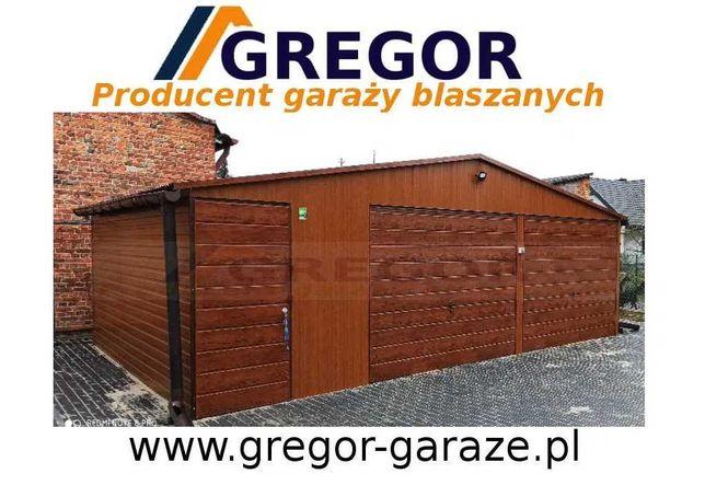 Garaż 8x6 blaszany blaszak drewnopodobny schowek