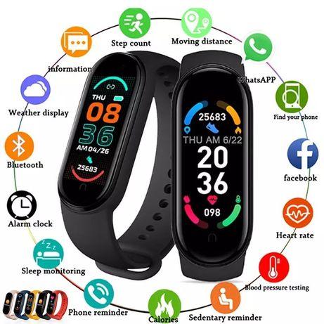 Smartwatch M6 (Novidade) disponivel na cor preta ou rosa