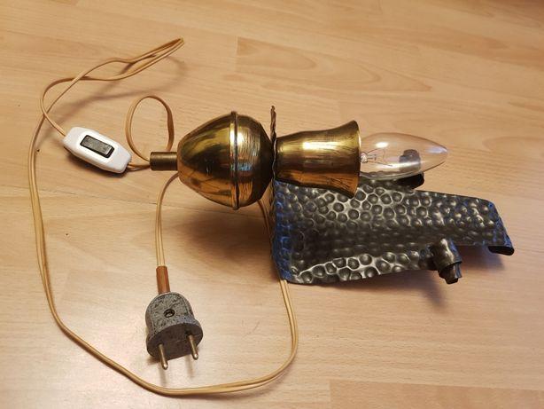 Lampa kinkiet metalowy z pstryczkiem PRL