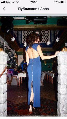 Шикарное платье в пол с открытой спиной