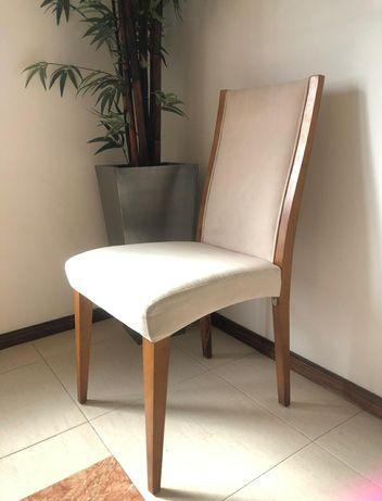 Cadeiras Forradas de Madeira de Cerejeira