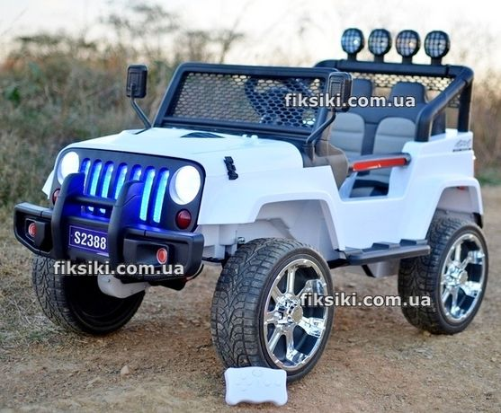 Детский электромобиль 3237 WHITE, 4мотора Дитячий електромобiль
