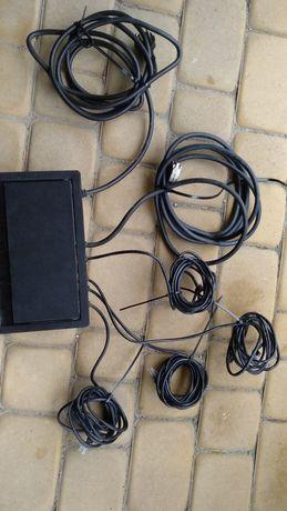Kaseta z gniazdami zasilającymi 1x 230V 1x VGA 4x RJ45 3m kable
