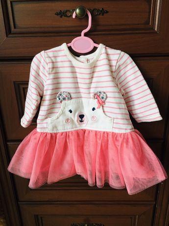 Платье на девочку, фатин, розовое