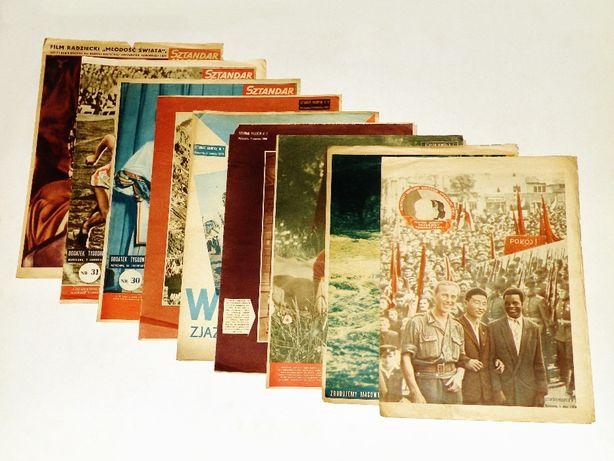 '' Sztandar młodych '' ; 9 dodatków ilustrowanych z 1950 roku